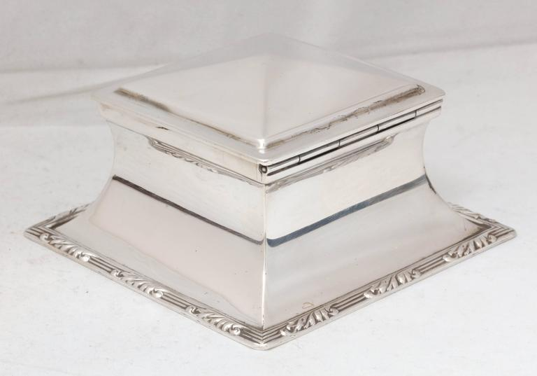 Edwardian Sterling Silver Inkwell For Sale 3
