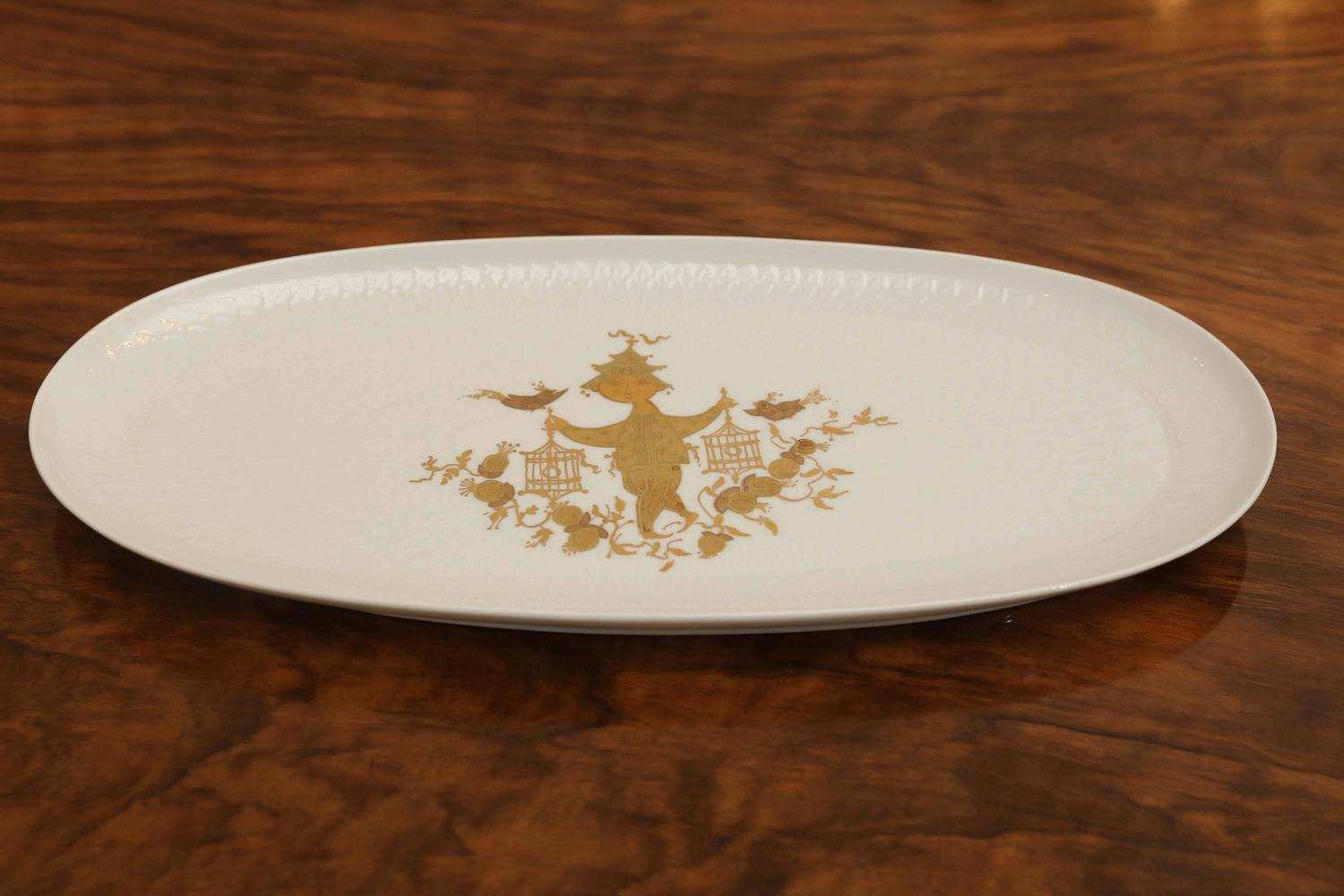 bjorn wiinblad rosenthal studio line romance pattern gold decorative