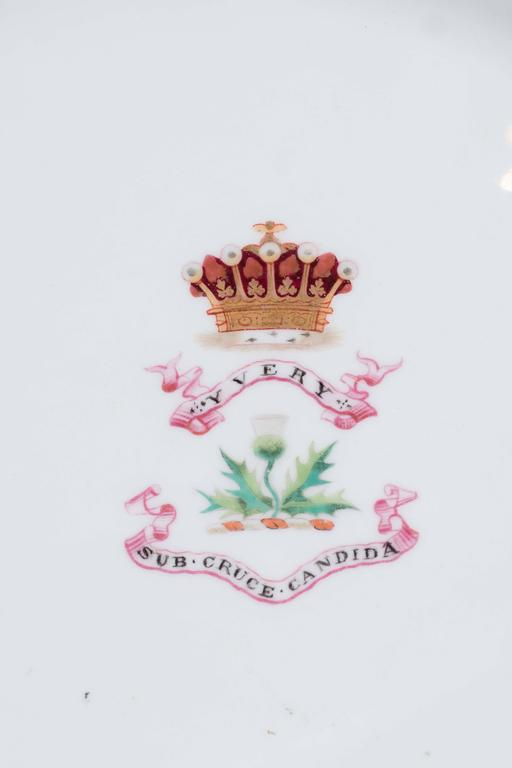 Neoclassical Antique Irish Armorial Dishes with the Arms of the Family of Perceval circa 1870 For Sale