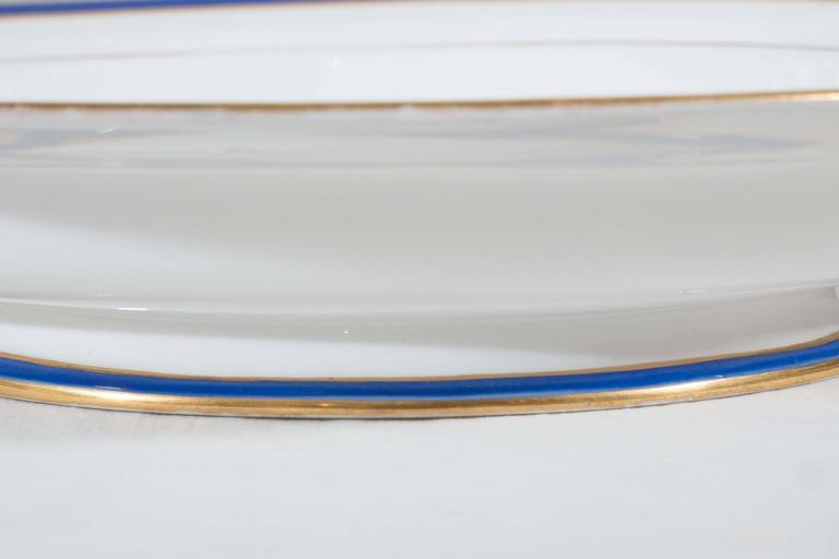Porcelain Antique Irish Armorial Dishes with the Arms of the Family of Perceval circa 1870 For Sale
