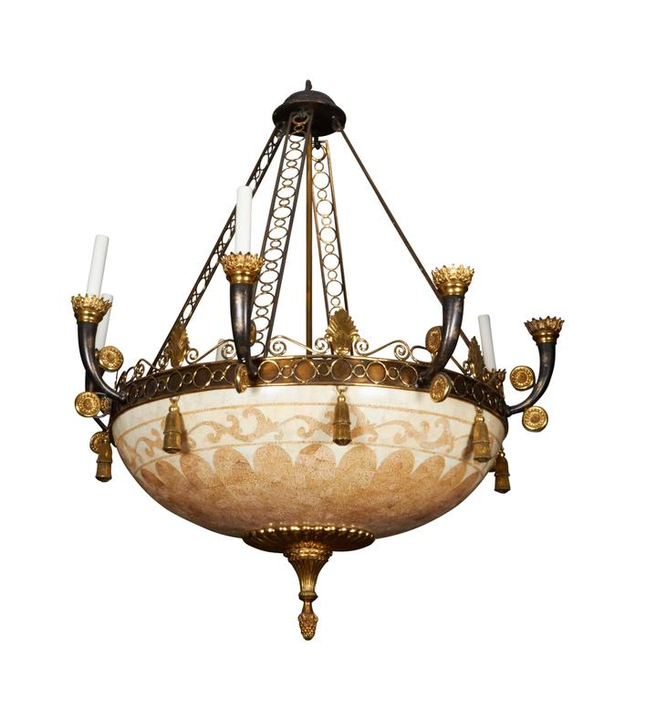 Empire Style Ten-Light Chandelier
