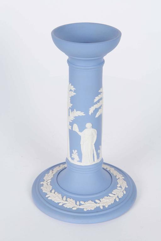 Pair of Jasperware Candlesticks and Bowl by Wedgwood For Sale 2
