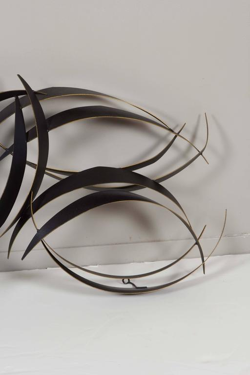 Curtis Jere Abstract Black Metal Wall Sculpture 2