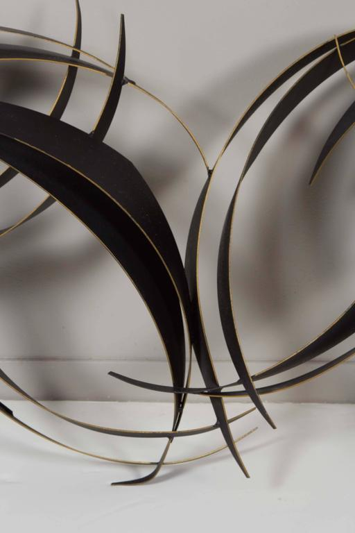Curtis Jere Abstract Black Metal Wall Sculpture 3