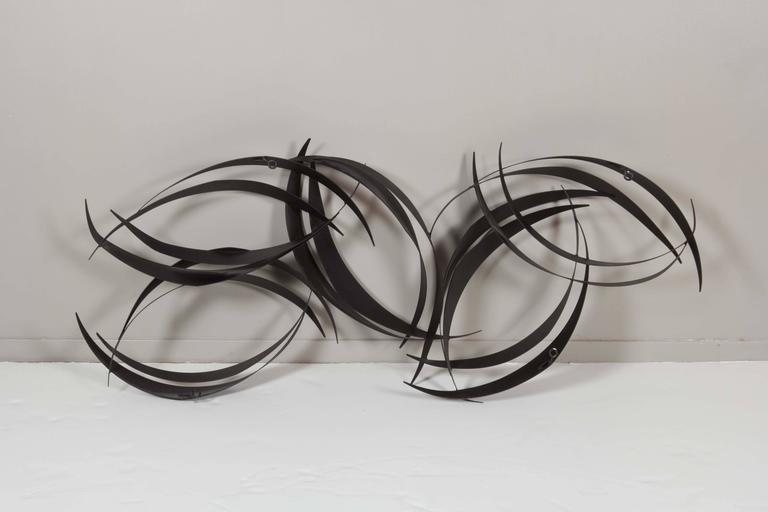 Curtis Jere Abstract Black Metal Wall Sculpture 4