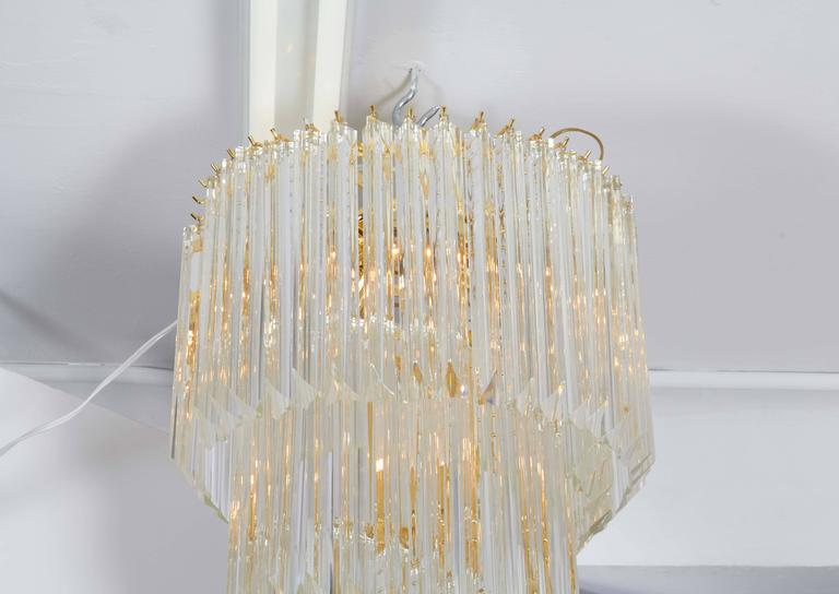 20th Century Cascading Chandelier with Crystal Prisms For Sale