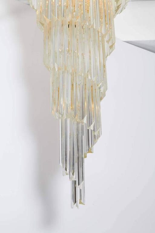Cascading Chandelier with Crystal Prisms For Sale 2