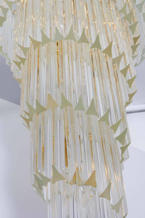 Cascading Chandelier with Crystal Prisms For Sale 4
