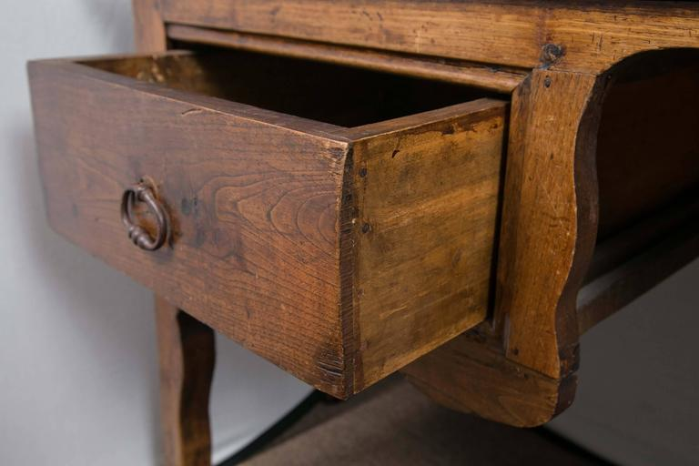19th Century Cherry And Oak French Desk Vanity Sofa Table