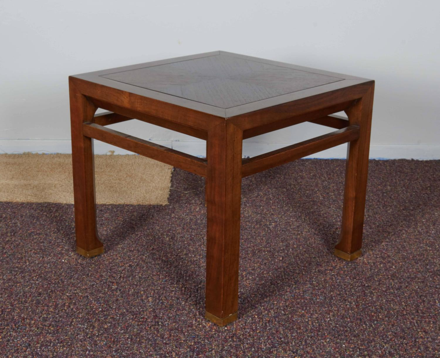 Baker Furniture Side Table With Bookmatched Top For Sale At 1stdibs