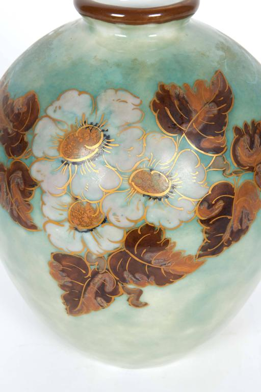 Camille Tharaud For Limoges Porcelain Vase With Floral