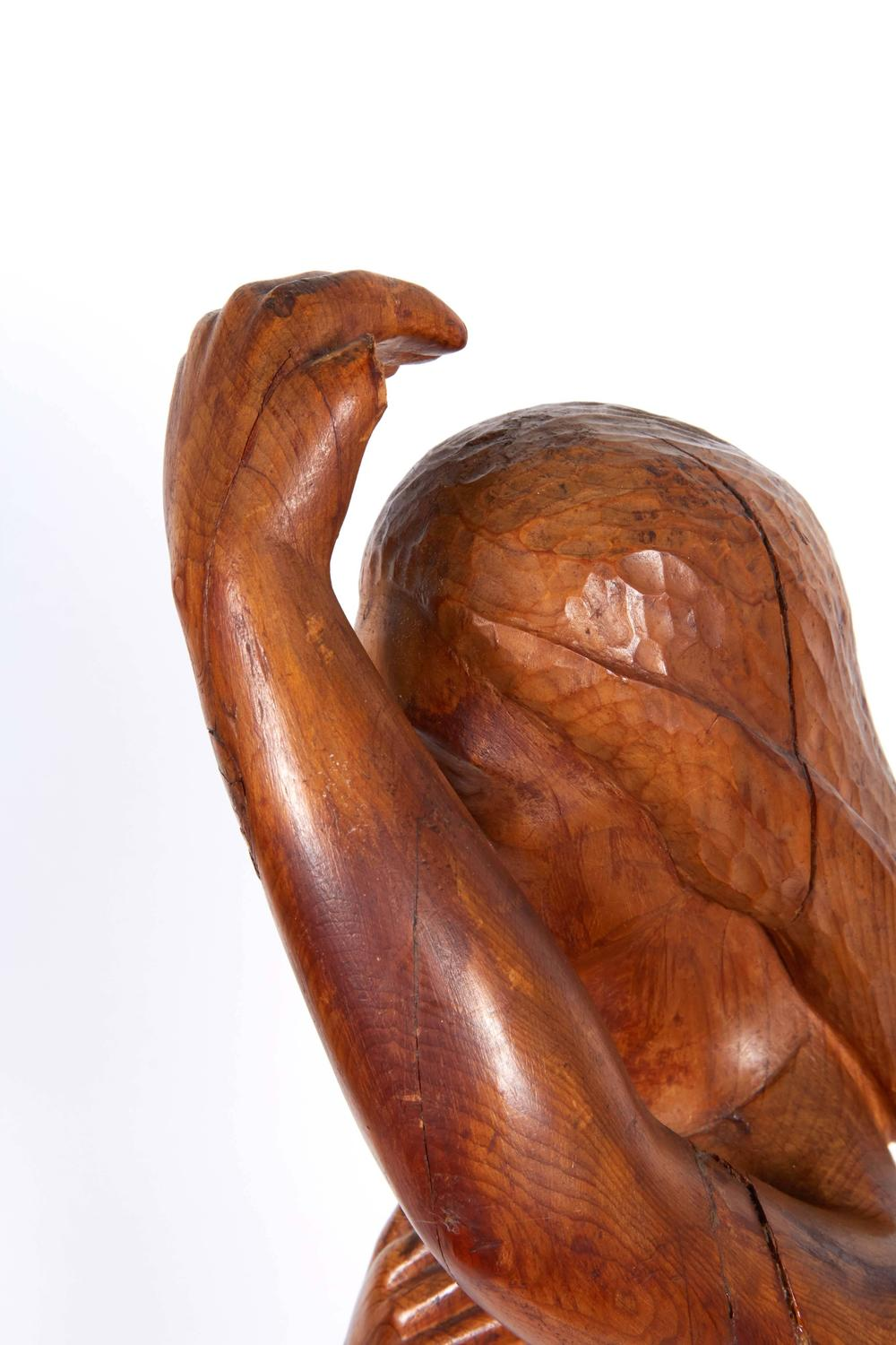 Hand carved wood sculpture of woman for sale at stdibs