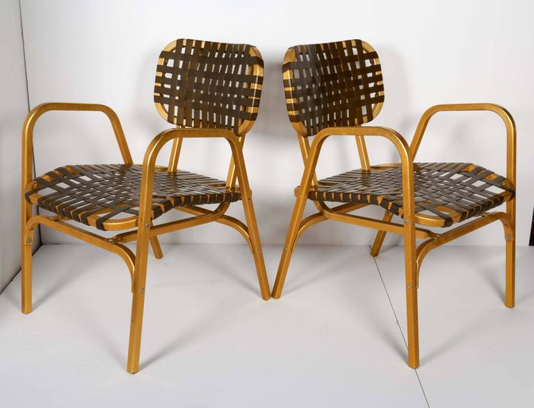 Pair of 1950's Mid-Century Modern Leisure Garden or Patio Chairs 3