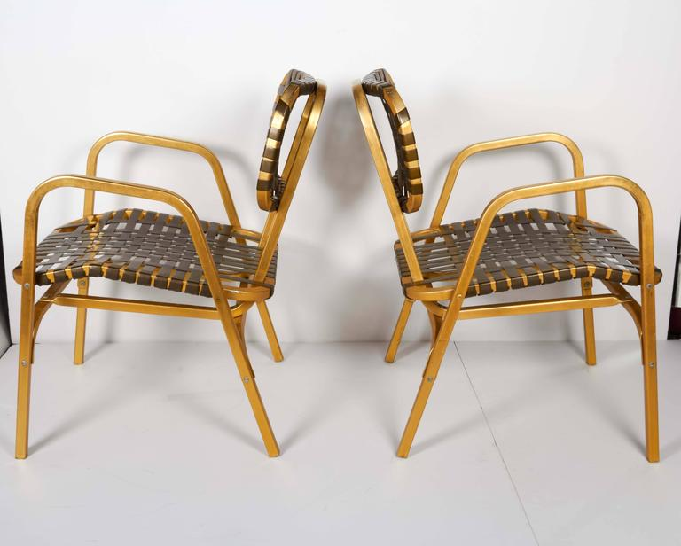 Pair of 1950's Mid-Century Modern Leisure Garden or Patio Chairs 2
