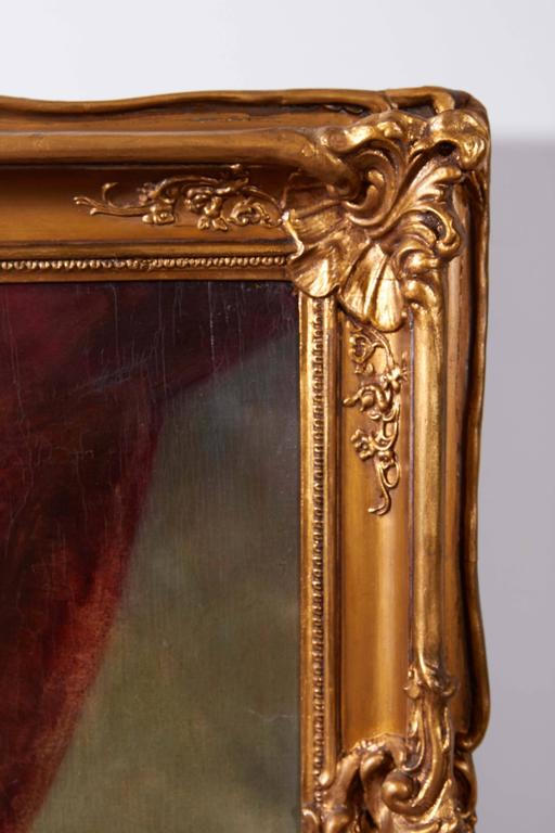 Set of 4 Large French 19th Century Oil on Canvas Wall