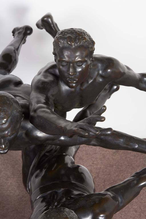 Large and Important Bronze Sculpture of Three Runners by A. Boucher - Siot For Sale 2