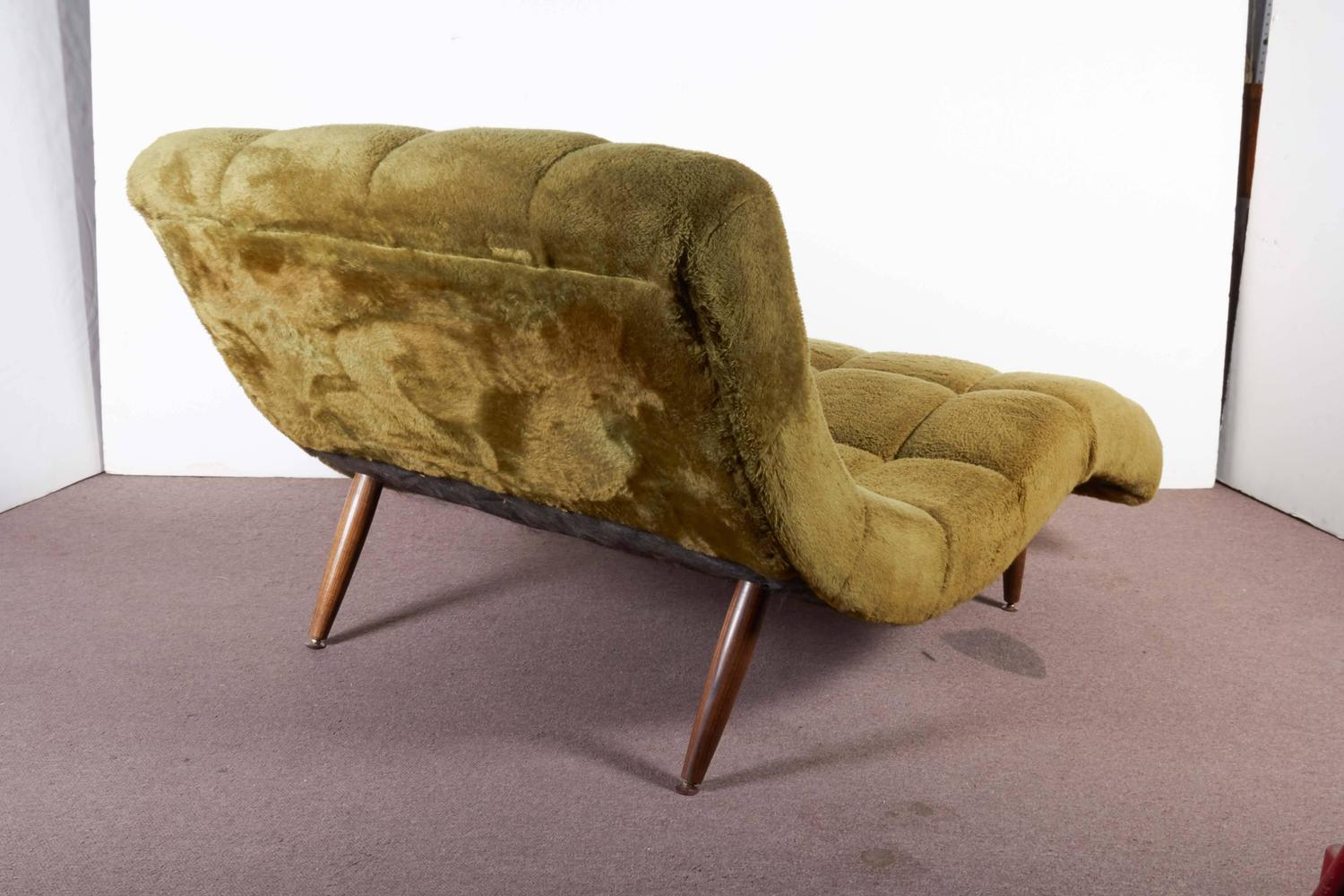 Mid century s curve lounge chair or chaise in the style for Century furniture chaise lounge