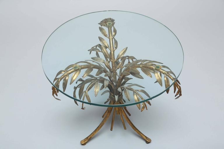 Gilded Iron Palm Tree Accent Table At 1stdibs