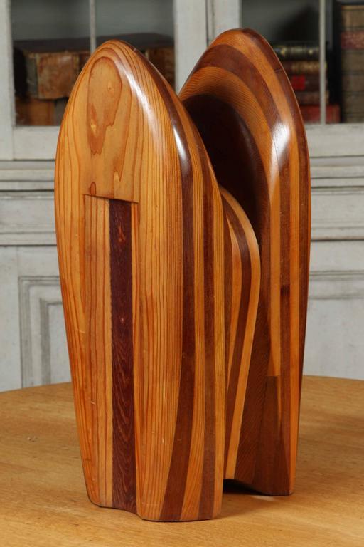 Mid-Century Modern Wooden Sculpture For Sale