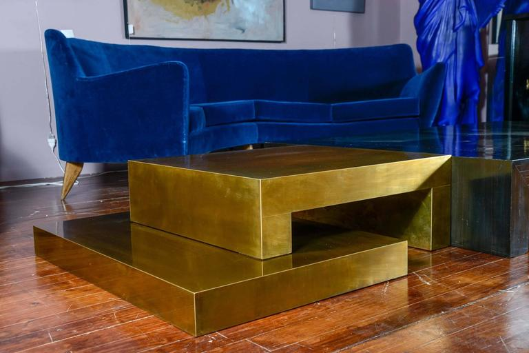 Brass Signed Coffee Table