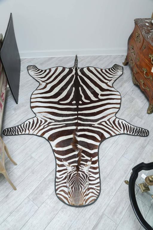 Genuine Zebra Skin Rug At 1stdibs