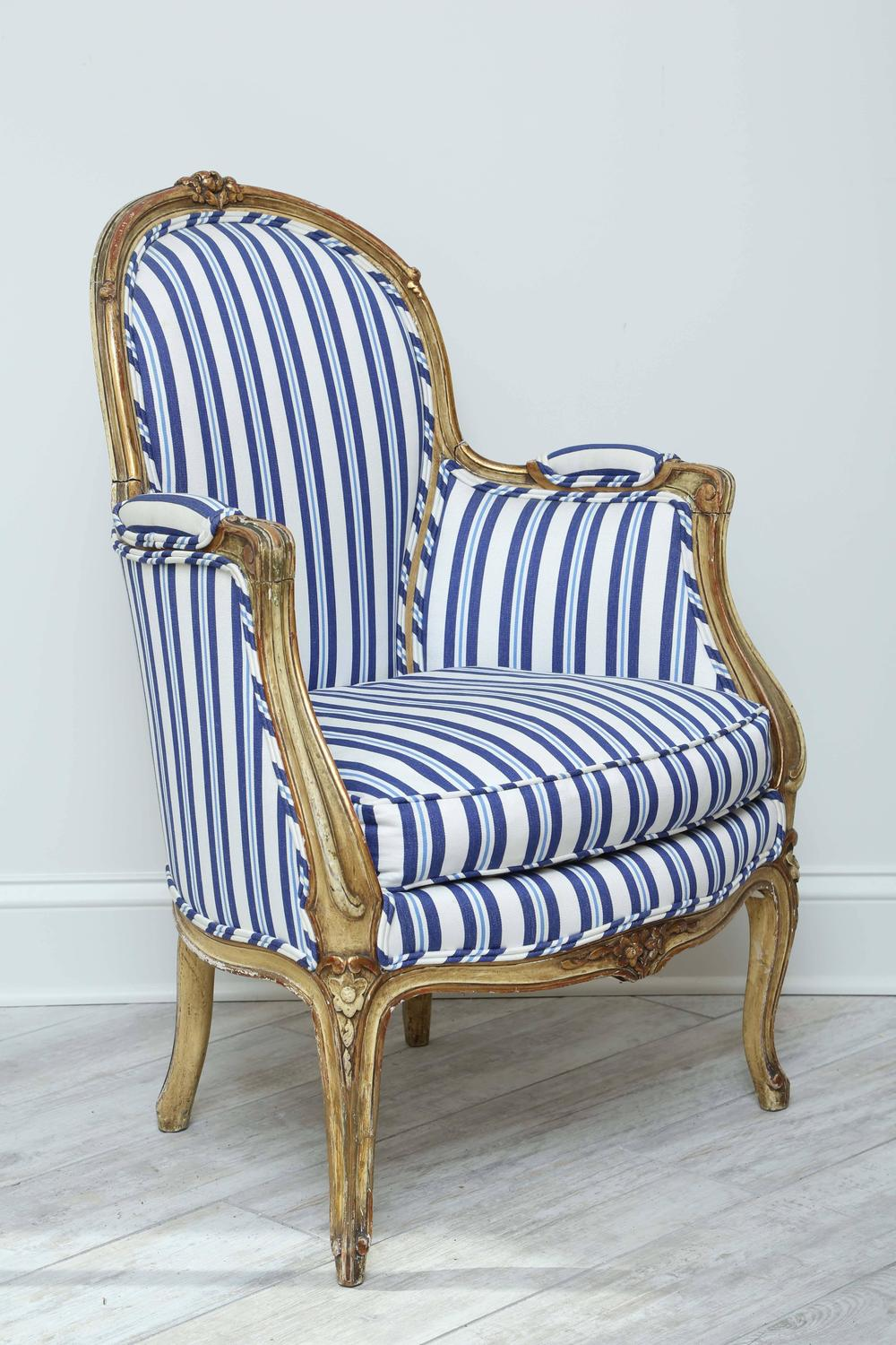Antique Louis Xv Style Bergere Chair For Sale At 1stdibs