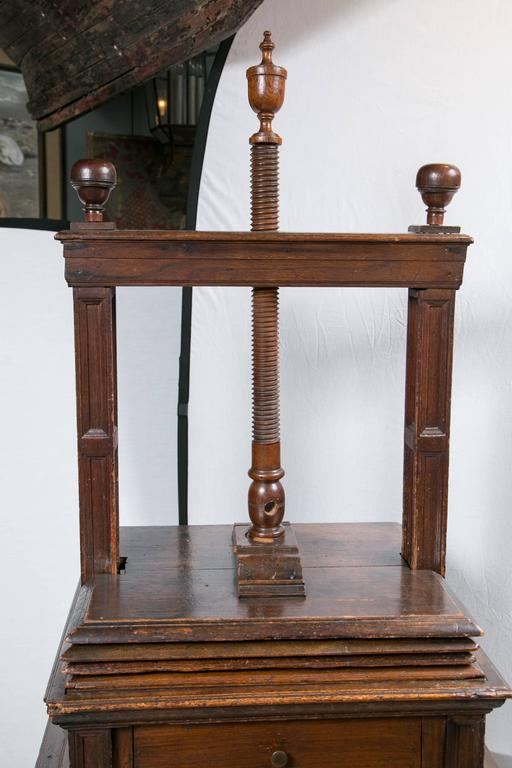 Antique Dutch Book Press For Sale 2
