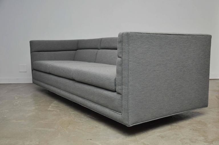Mid-Century Modern Dunbar Model 7140 Channel Sofa by Roger Sprunger For Sale