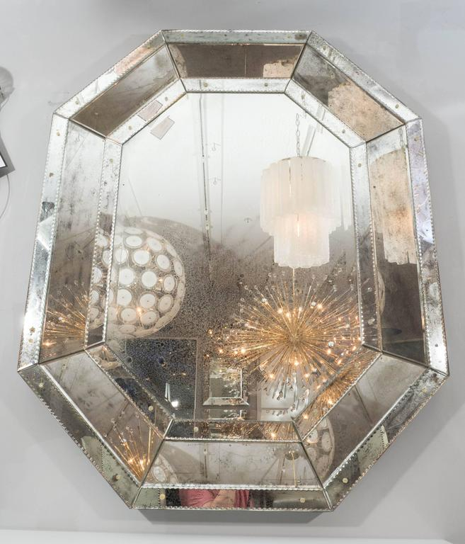Antique Glass Octagon Mirror For Sale At 1stdibs