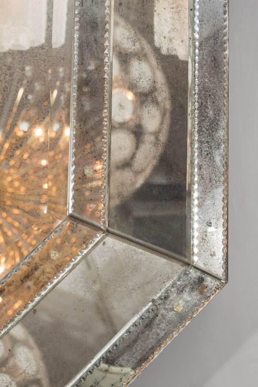 Custom Antiqued Octagon Mirror In New Condition For Sale In New York, NY