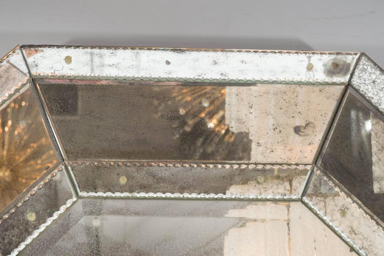 Custom Antiqued Octagon Mirror For Sale 1