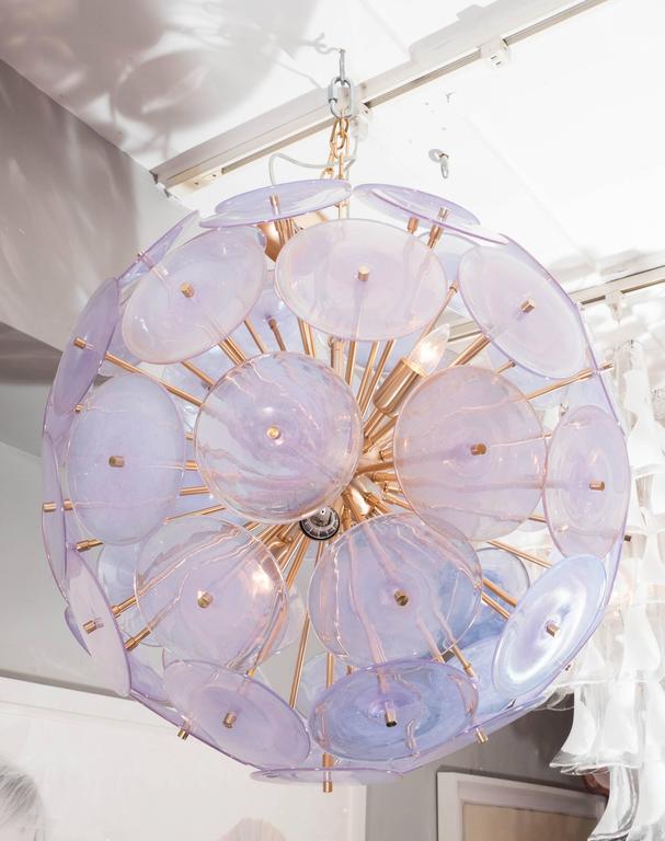 Iridescent Murano Disc Sputnik Chandelier 2