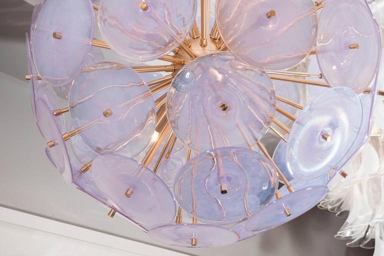 Iridescent Murano Disc Sputnik Chandelier 5