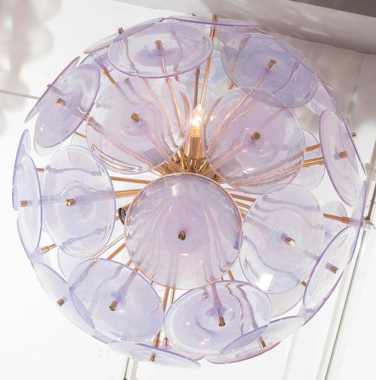 Iridescent Murano Disc Sputnik Chandelier 6