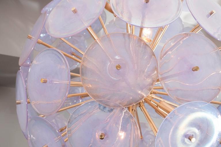Iridescent Murano Disc Sputnik Chandelier 7