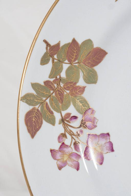 Aesthetic Movement Antique Royal Worcester Porcelain Dishes Made in England circa 1877 For Sale