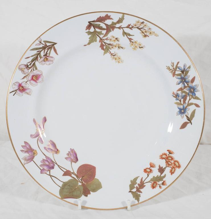 Antique Royal Worcester Porcelain Dishes Made in England circa 1877 For Sale 1