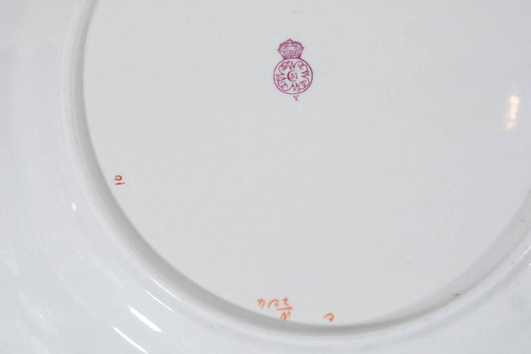 Antique Royal Worcester Porcelain Dishes Made in England circa 1877 For Sale 2