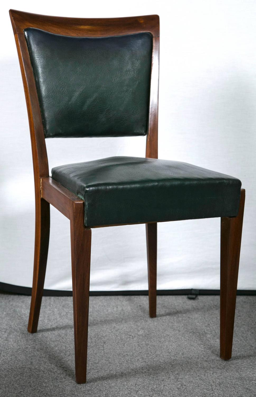 set of eight italian mid century modern black leather On italian leather dining chairs modern