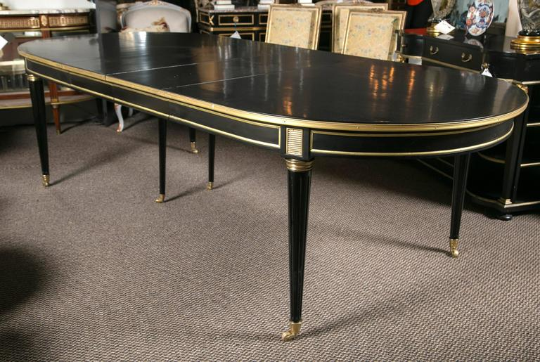 Spectacular Three Leaf Maison Jansen Dining Table At 1stdibs