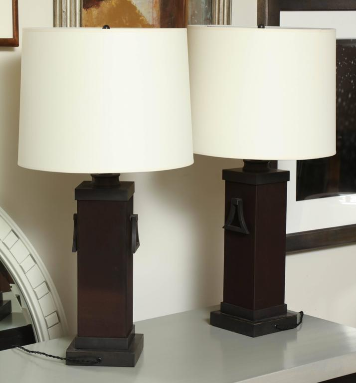 Pair of Mont Lamps For Sale 3