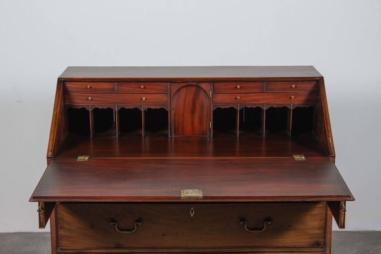 Traditional Secretary Desk with Brass Hardware 6