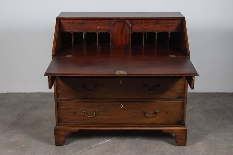 Traditional Secretary Desk with Brass Hardware 7