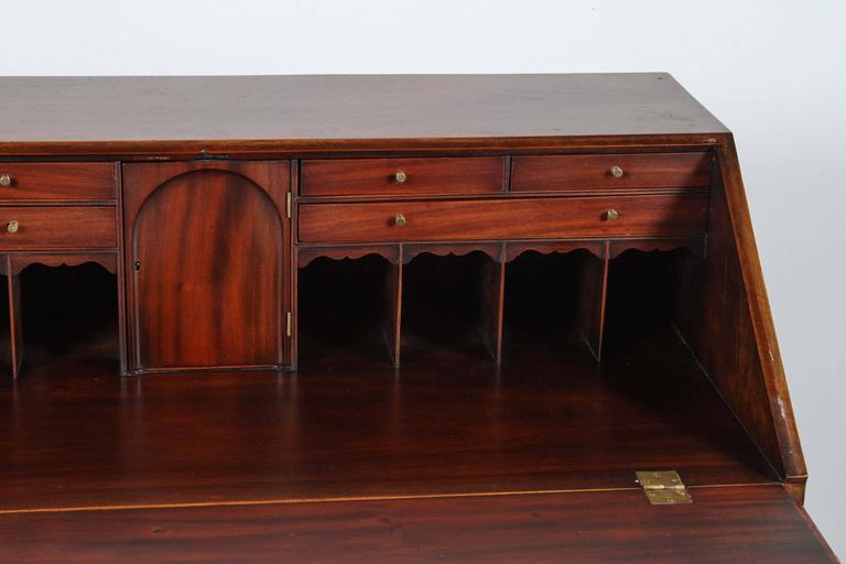 Traditional Secretary Desk with Brass Hardware 8