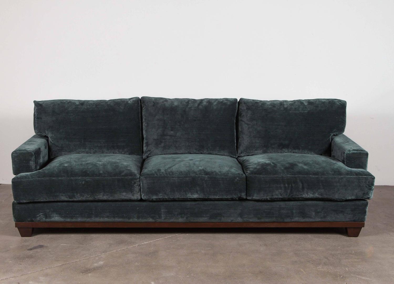 Teal Velvet Sofa For Sale At 1stdibs