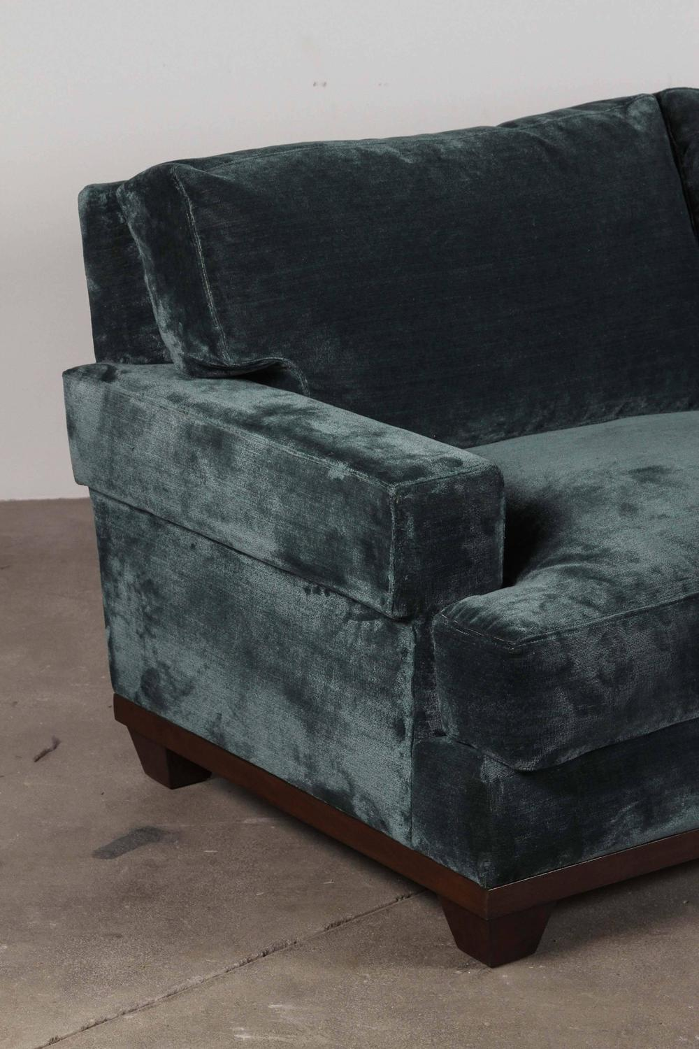 teal velvet sofa for sale at 1stdibs
