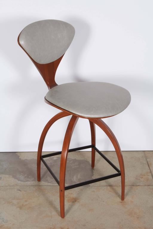 Pair of norman cherner bar stools at 1stdibs - Norman cherner barstool ...