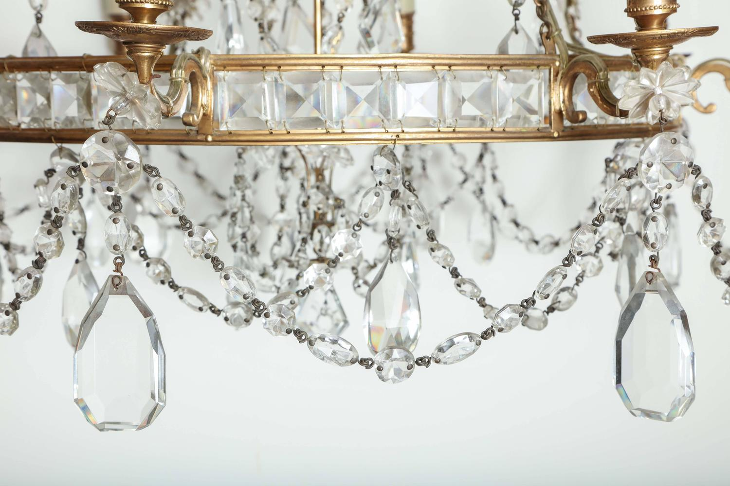 Baltic Crystal Chandelier At 1stdibs