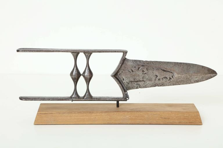 19th Century Indian Steel Katar 2