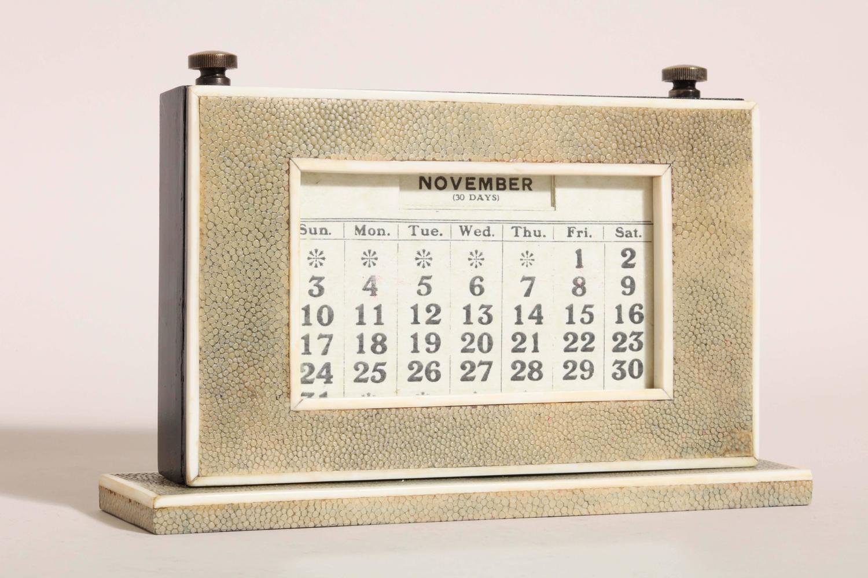 Perpetual Calendar Art Deco : W j myatt english art deco shagreen perpetual calendar